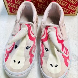 Pink Unicorn Vans slip on Sneakers